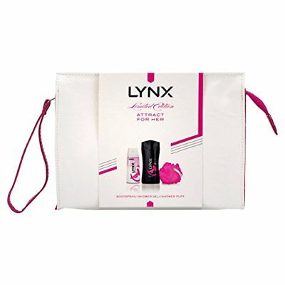 Lynx Attract Washbag Gift Set for Her