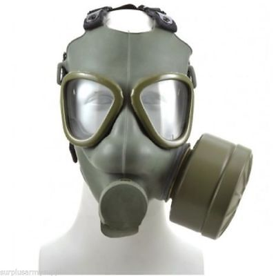 Serbian M1 Gas Mask - Authentic Military Issue - Includes protective cloak