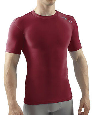 Sub Sports Cold Thermal Mens Short Sleeve Top Compression Baselayer - Red