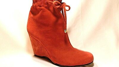 8f3c70142915 Kate Spade New York Women s Size 6.5 M Orange Suede Wedge Ankle Boots