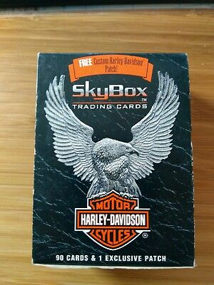 """SKYBOX 1994 """"Harley-Davidson"""" Sealed Box Trading Cards. 90 Cards & 1 patch"""