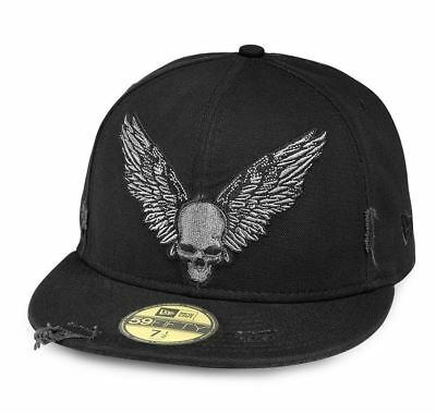 Brand New and Genuine Harley Davidson Men's Winged Skull 59FIFTY Cap