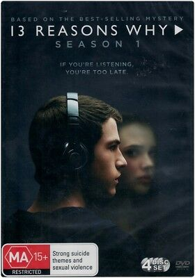 """13 REASONS WHY: Season 1"" DVD, 4 Disc Set - Region [4] BRAND NEW"