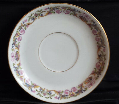 """Limoges saucer made in France about 5"""" diameter"""