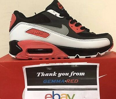 Nike Air Max 90 Essential Black / Red New Men's Trainers 9 Uk 100% Authentic*
