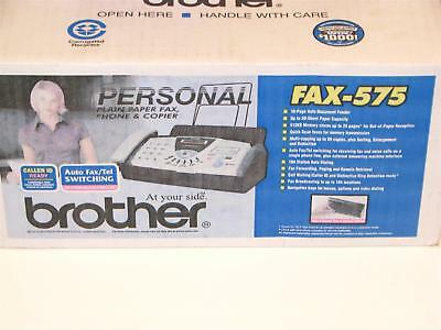 Brother FAX-575 Personal Plain Paper Fax, Phone and Copier NEW
