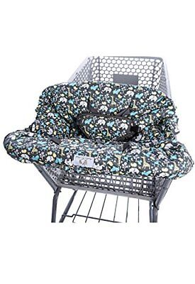 2-in-1 Shopping Cart Cover and High Chair Cover, Universal Fit, Ultra (Grey)