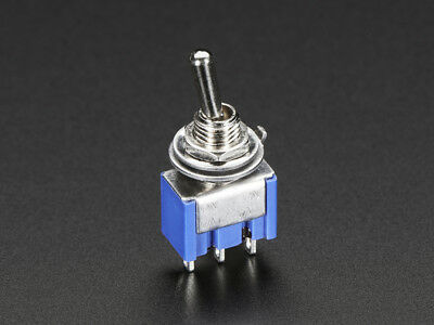 2Pcs 3 Pin 2 Position On-On SPDT Mini Latching Toggle Switch AC 125V/6A 250V/3A
