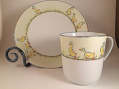 Vintage Holiday China - Germany - Lot of Adorable Childs Duck Plate / Mug