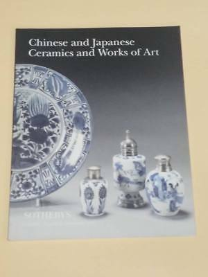 Sotheby's Auction Catalog Chinese and Japanese ceramics and Works of art 1997