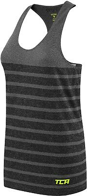 TCA Womens Running Vest Quick Dry Seamless Ventilated Gym Sports Training - Blac