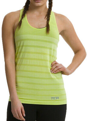 TCA Womens Running Vest Quick Dry Seamless Ventilated Gym Sports Training - Gree