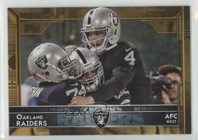 2015 Topps Gold/2015 #291 Oakland Raiders Football Card