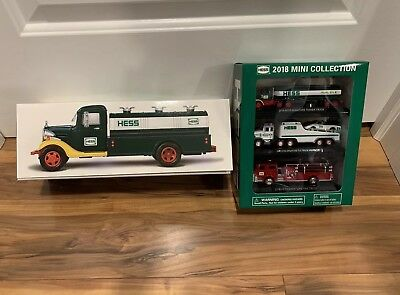 2018 Hess Truck Collectors Edition 75th Anniversary + 2018 Mini Collection 3Pack