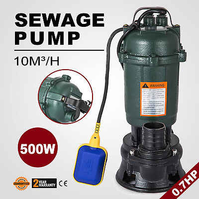 500W Submersible Sewage Dirty Waste Water Pump 2850r/min 2200GPH 167l/min HOT