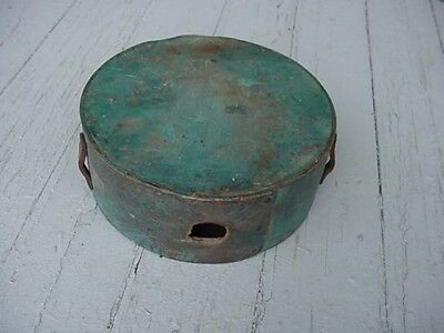 Original Cheese Box Wood Canteen ID'd to Soldier
