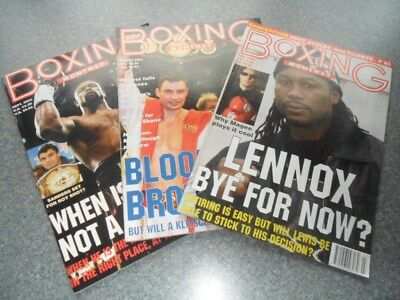 Boxing Monthlies. March 2003. Sep.2003. March 2004.