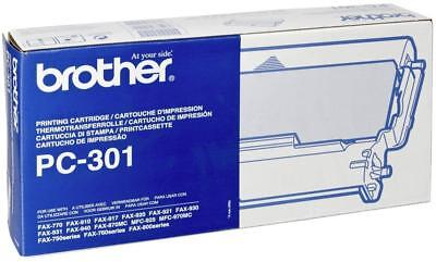 GENUINE/ORIGINAL BROTHER PC-301 Printing Cartridge FAX-770, FAX-910, FAX-917