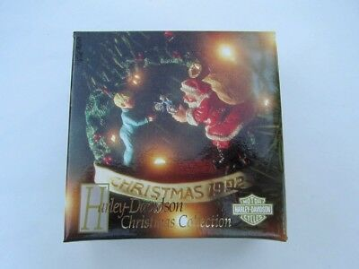 """Harley-Davidson Christmas Ornament 1992 """"the Gift"""" New In Box! Limited Edition"""