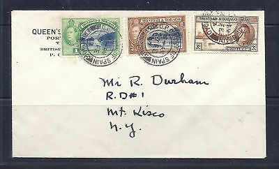 TRINIDAD and TOBAGO 1947 cover to New York