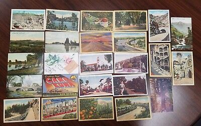 Vintage Lot of 25 Postcards ~ CA NM CO SD MO NC VT ~ 1900's