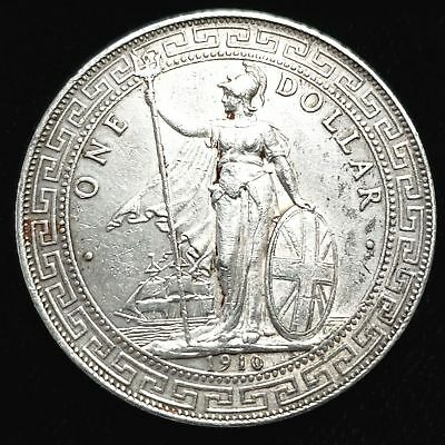 1910 Great Britain $1 British Trade Dollar .900 Silver Collector Coin 0GBTD1009