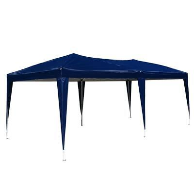 10'x 20' Easy Outdoor Pop Up Gazebo Canopy Cover Wedding Party Tent No Walls