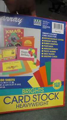 100 Riverside Array BRIGHTS card stock Heavyweight Rojo Red stamping greet cards