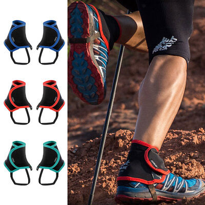 Low Trail Running Gaiters Mens Womens Outdoor Shoe Covers Prevent Sand Stone