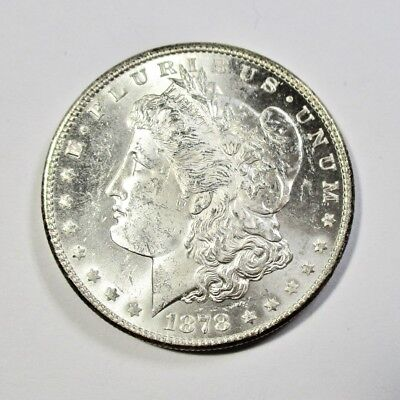 1878-S Silver Morgan Dollar BU UNC Uncirculated VERY NICE COIN Proof Like -1