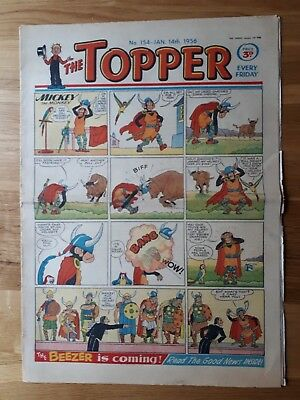 The Topper Comic No 154 14th January 1956 The Beezer No 1 Full Page D D Watkins