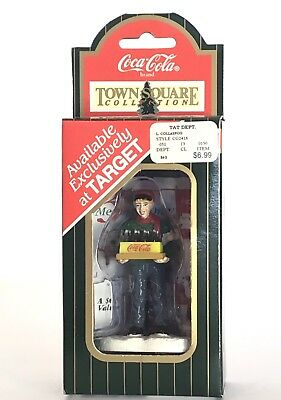 """1996 Coca Cola Town Square Collection Pizza Delivery Man """"only At Target"""" New"""