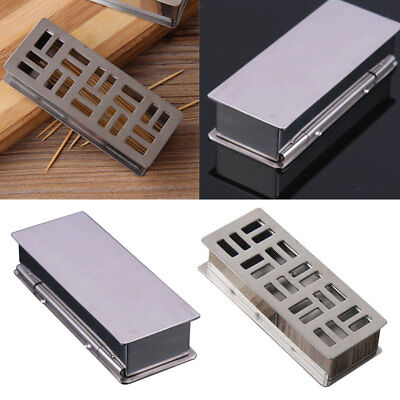 Rectangle Stainless Steel Toothpick Holder Dispenser Toothpick Box Container