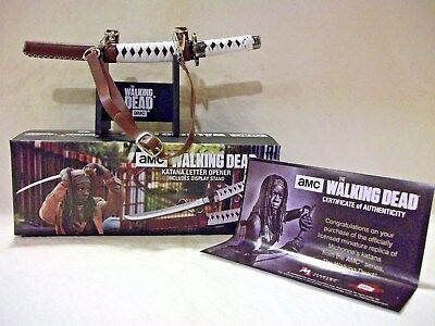 """THE WALKING DEAD"""" Katana Letter Opener With  Certificate of Authenticity"""