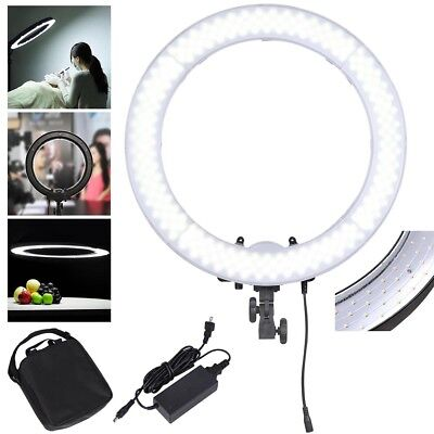 """Portable 55W LED SMD Ring Light Makeup Photo Video 19"""" 5500K Dimmable Lighting"""