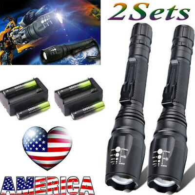Top Flashlight Tactical 20000Lumen 5Modes T6 LED Zoomable 18650 Torch/Light/Lamp