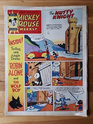 Walt Disney's Mickey Mouse Weekly Comic 21st September 1957