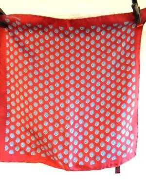 Made in England - 100% silk rolled edged patterned pocket square (1622)