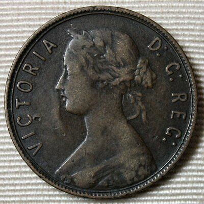 1885 NEWFOUNDLAND Large Cent Penny * KEY DATE Coin * Low Mintage * FREE SHIPPING