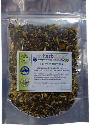 GLOW HERBAL TEA FOR BEAUTIFUL RADIANT SKIN - NATUROPATHIC - BEAUTY ENERGY 25g