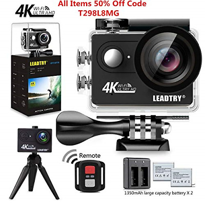 LeadTry HP7R Full 4K HD Action Camera Wifi, Mini 12MP Underwater Photography DV