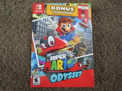 READ Super Mario Odyssey Bonus Traveler's Guide and Box ONLY for Nintendo Switch