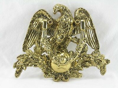"Vintage Brass Eagle Door Knocker Heavy Large 10 1/2"" x 8 1/2"" Used Free Shipping"