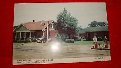 """Boone, N.c. """"black Bear Tourist Court ~ Gulf Gas Station"""" Cottages With Kitchens"""