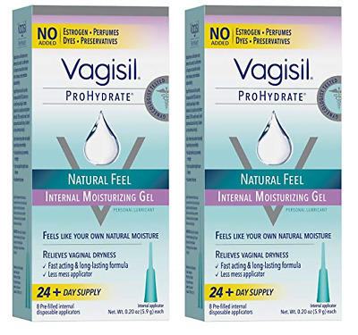 Vagisil Prohydrate Natural Feel Internal Vaginal Gel & Lubricant, 16 Applicators