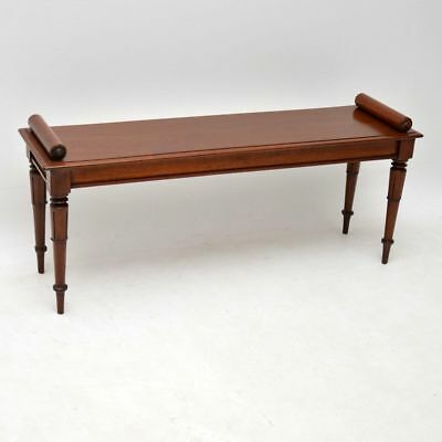 Antique William IV Mahogany Bench / Window Seat