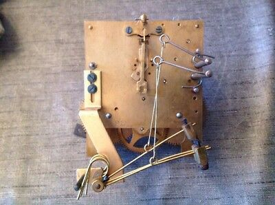 Antique Clock Movement Keininger Two Train Chiming With Gong 9x11cm
