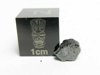 Worden L5 0.13g Fusion Crusted Slice of 1997 Car Crushing Chondrite Meteorite
