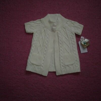 """Girls """"Emma's Garden"""" Smart Cream Cable Knit Cardigan for Age 18 months BNWT"""