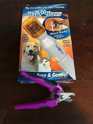 Pedi Paws Pet Nail Trimmer New in Box-As Seen on TV AND Conair Top Paw Trimmers
